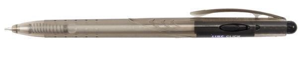 Ручка шариковая автоматическая одноразовая Linc Click корпус черный, стержень черный