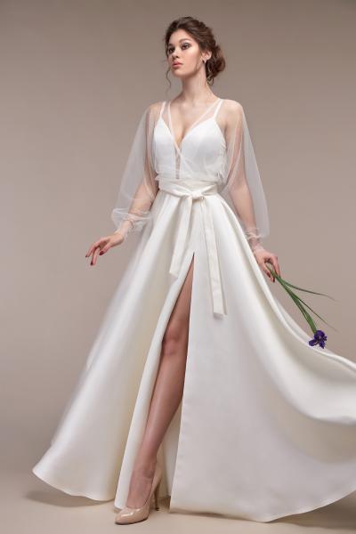 Атласное свадебное платье-трансформер Тина