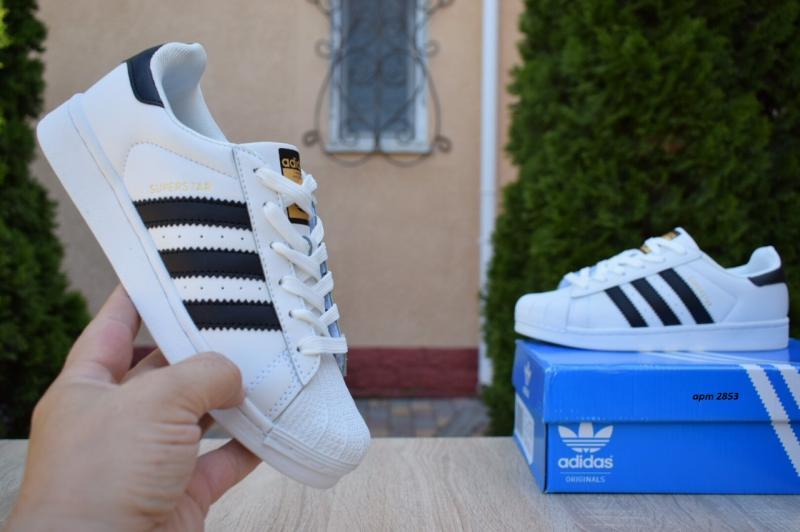 Фото СПОРТИВНАЯ ОБУВЬ, ADIDAS, Superstar Adidas Superstar White Black (36-41)