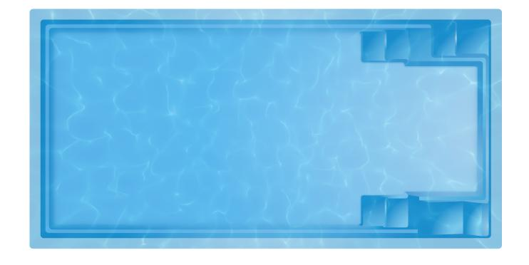 Фото Бассейны, Переливные бассейны Комо Композитный бассейн Комо 6 6,5 х 3,3 х 1,5 скиммер