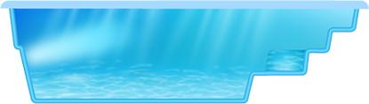 Фото Бассейны, Классические бассейны Композитный бассейн Гурон 5.2 х 2.8 х 1.4