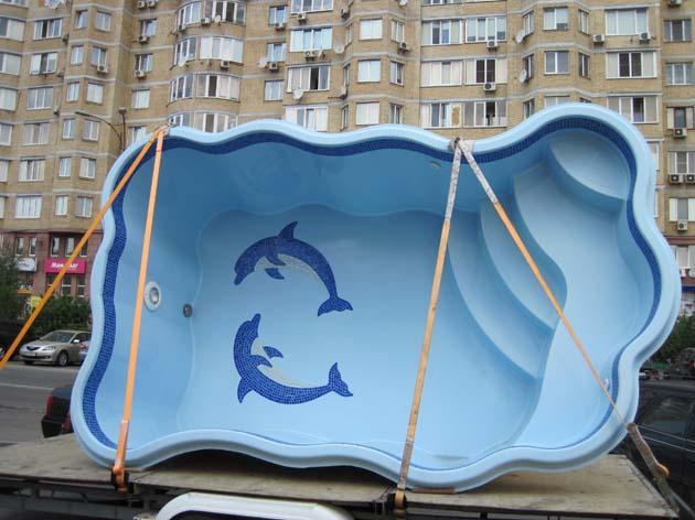 Фото Бассейны, Свободные бассейны Композитный бассейн Одесса 4.7 х 3 х 1.3