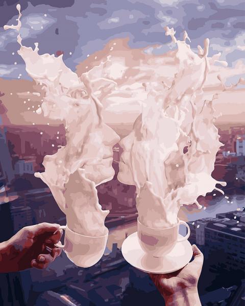 Фото Картины на холсте по номерам, Картины  в пакете (без коробки) 50х40см; 40х40см; 40х30см, Романтические картины. Люди. GX 27960