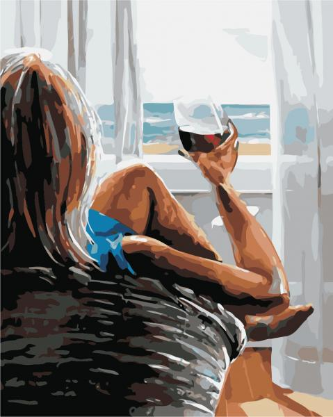 Фото Картины на холсте по номерам, Романтические картины. Люди AS 0433