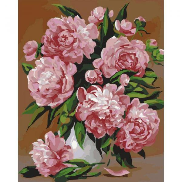 Фото Картины на холсте по номерам, Картины  в пакете (без коробки) 50х40см; 40х40см; 40х30см, Цветы, букеты, натюрморты KHO 2087