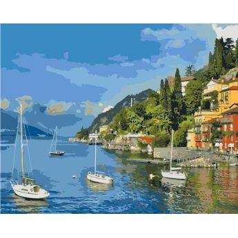 Фото Картины на холсте по номерам, Морской пейзаж KH 2164