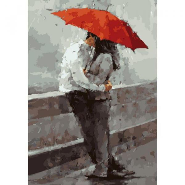 Фото Картины на холсте по номерам, Картины  в пакете (без коробки) 50х40см; 40х40см; 40х30см, Романтические картины. Люди. KHO 2647
