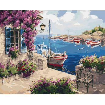 Фото Картины на холсте по номерам, Картины  в пакете (без коробки) 50х40см; 40х40см; 40х30см, Пейзаж, морской пейзаж. KHO 2237