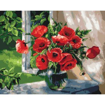 Фото Картины на холсте по номерам, Картины  в пакете (без коробки) 50х40см; 40х40см; 40х30см, Цветы, букеты, натюрморты KHO 2098