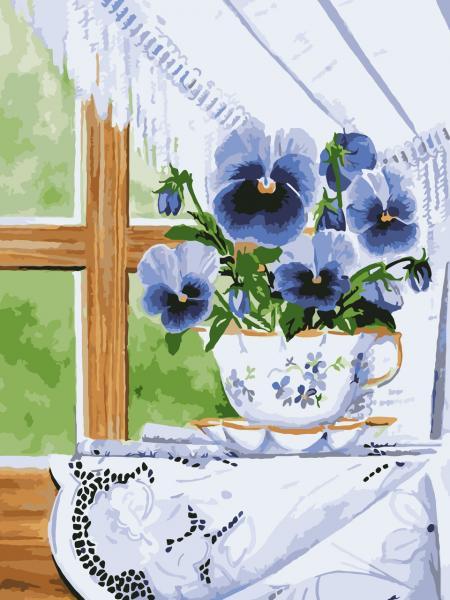 Фото Картины на холсте по номерам, Букеты, Цветы, Натюрморты KH 2059 Роспись по номерам на холст в коробке 40х30см