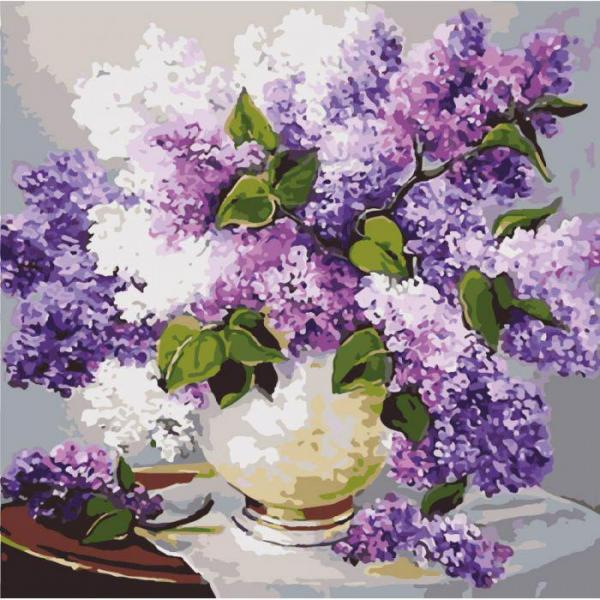 Фото Картины на холсте по номерам, Букеты, Цветы, Натюрморты KH 2085