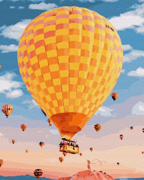 Фото Наборы для вышивания, Вышивка крестом с нанесенной схемой на конву, Пейзаж KGX 25451 Воздушный шар Роспись по номерам на холсте 40х50см в коробке