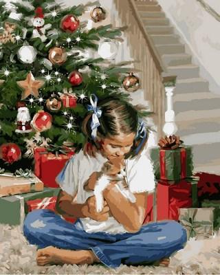Фото Картины на холсте по номерам, Зима! Новый Год! Рождество! VP785
