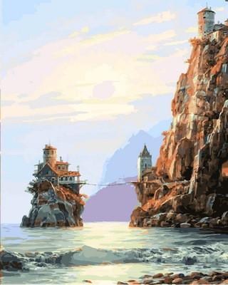 Фото Картины на холсте по номерам, Морской пейзаж VP857