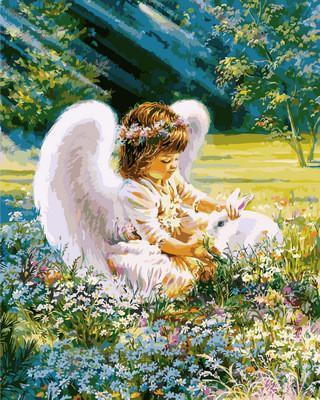 Фото Картины на холсте по номерам, Дети на картине VP 900