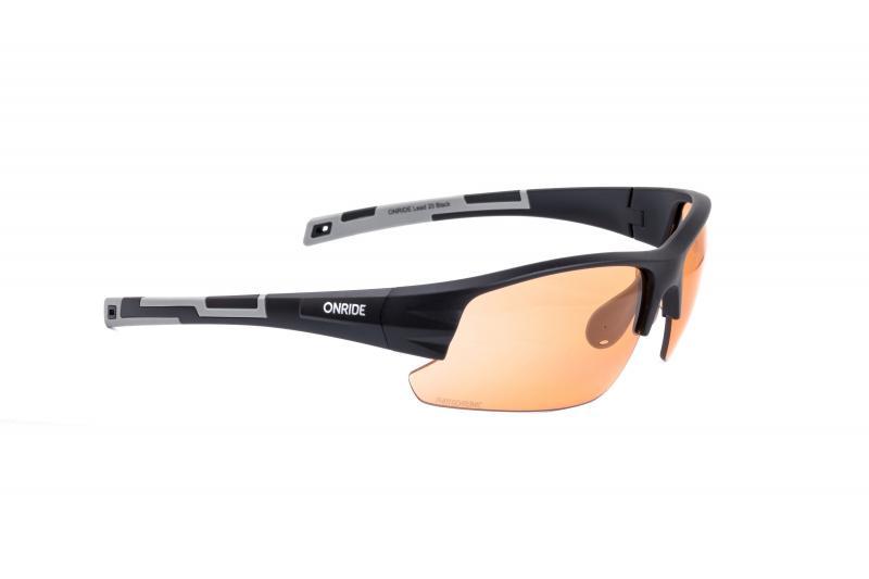 Окуляри ONRIDE Lead 20 матові чорні з лінзами помаранч Photochromic (57-17%)