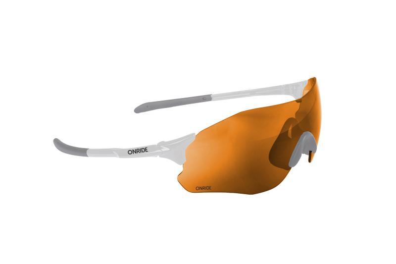 Окуляри ONRIDE Possession 20 білий з лінзою Orange (40%)