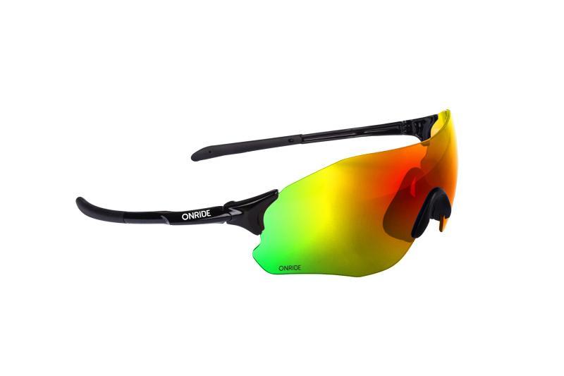Окуляри ONRIDE Possession 20 чорний з лінзою Revo Rainbow (17%)
