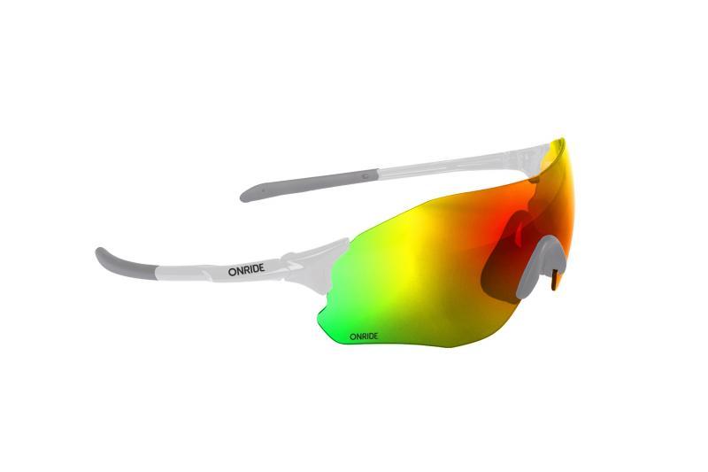 Окуляри ONRIDE Possession 20 білий з лінзою Revo Rainbow (17%)