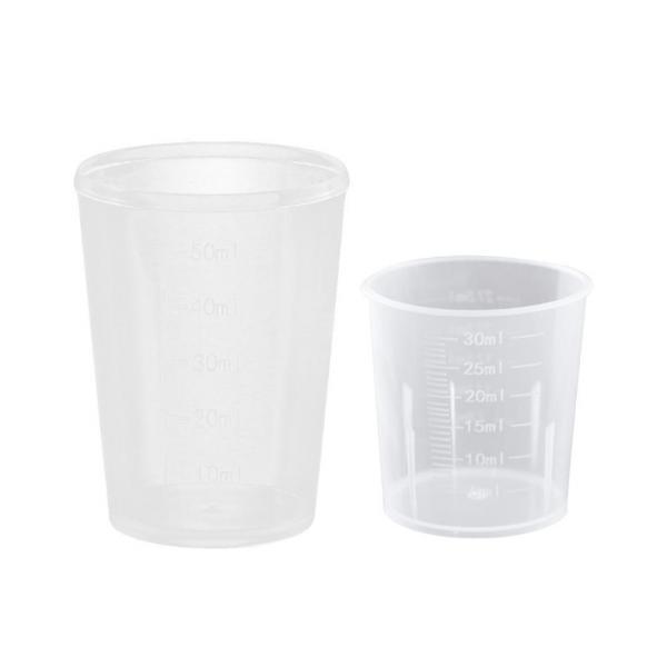 Фото  Опрыскиватели. Мерный стакан. Мерный пластиковый стакан 50 мл.