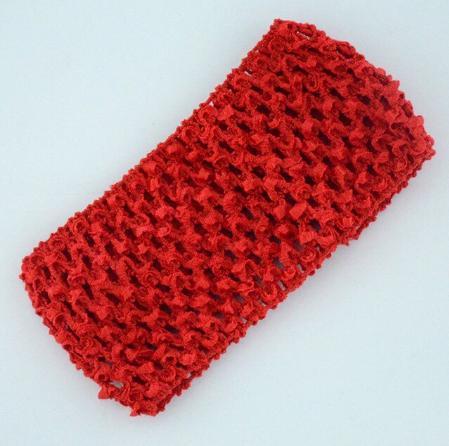 Фото Основы ,фурнитура для канзаши, Повязки Повязка  ажурная  ширина  7  см.  Красного  цвета.
