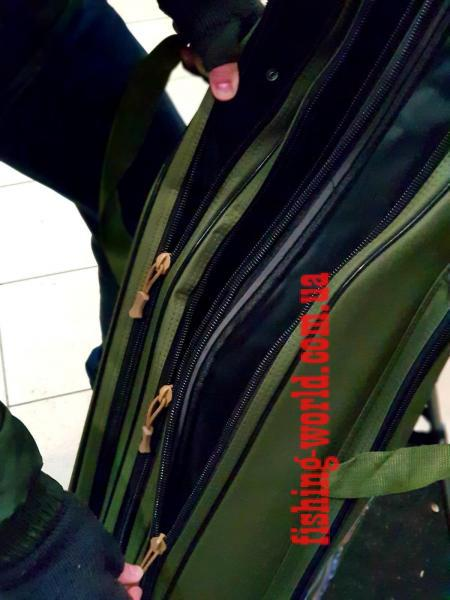 Фото Рыболовные Чехлы, Сумки, Тубусы Чехол для удилищ под катушку на треноге на 3-и секции(жесткий)1,50см