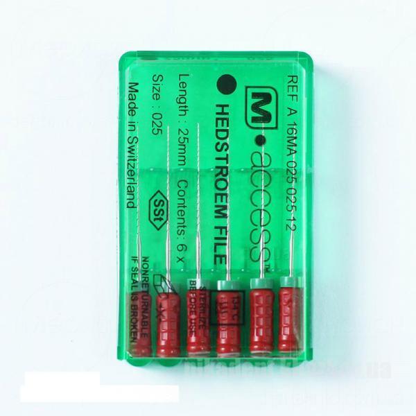 Фото Для стоматологических клиник, Эндоинструменты H-File M-Access (Хедстрем Файлы) 25мм - (6шт/уп)