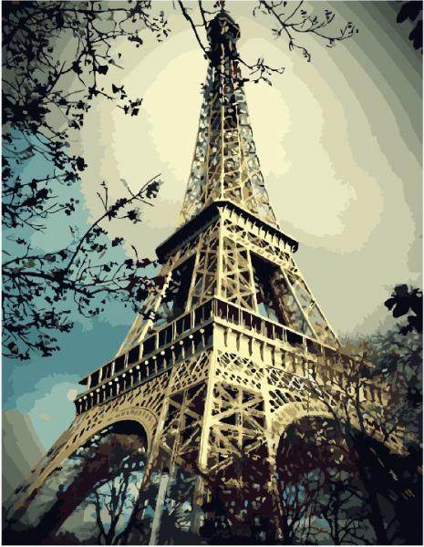 Фото Картины на холсте по номерам, Городской пейзаж GX 3509