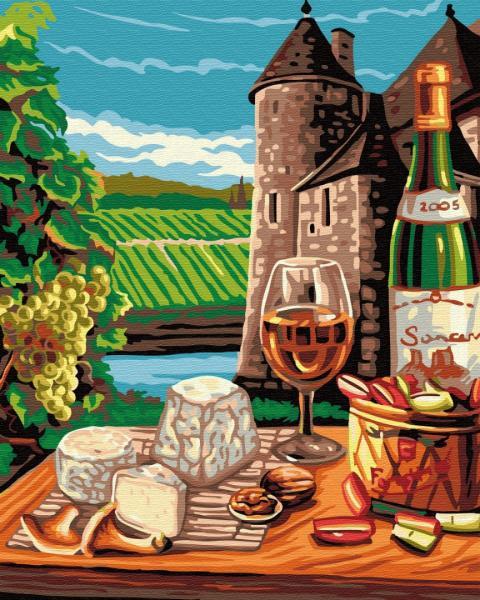 Фото Наборы для вышивания, Вышивка крестом с нанесенной схемой на конву, Пейзаж KGX 31480 Провинциальная жизнь во Франции Картина по номерам на холсте 40х50см