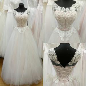 Фото Свадебные платья Пышное Блестящее свадебное платье Хрусталь