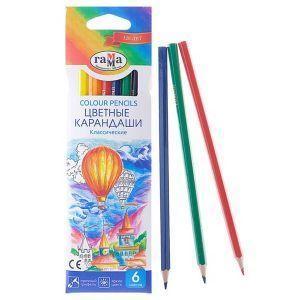 """Цветные карандаши """"Гамма"""", 6 шт/уп"""