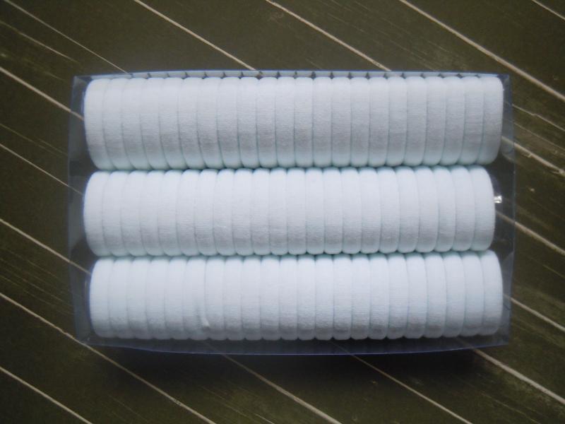 Фото Основы ,фурнитура для канзаши, Резинки Резинка  Белая  плотная   3 см.  упаковка  66 шт.