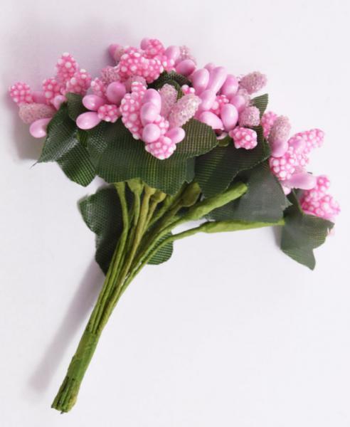 Фото Тычинки , добавки,ягодки Тычинки на веточке  светло - Розовые  12 веточек  в одной упаковке .