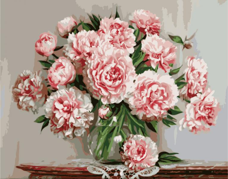 Фото Картины на холсте по номерам, Картины  в пакете (без коробки) 50х40см; 40х40см; 40х30см, Цветы, букеты, натюрморты KHO 1067