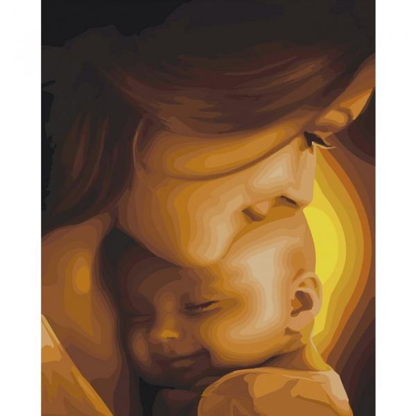 Фото Картины на холсте по номерам, Дети на картине KHO 2308