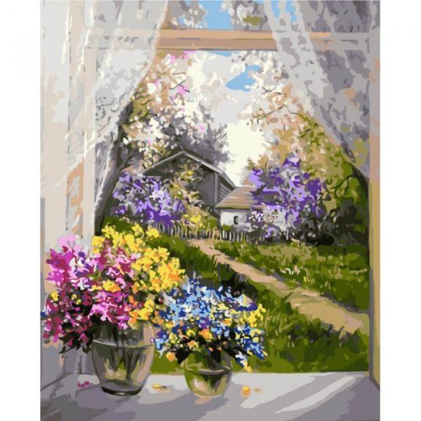 Фото Картины на холсте по номерам, Картины  в пакете (без коробки) 50х40см; 40х40см; 40х30см, Цветы, букеты, натюрморты KHО 2231
