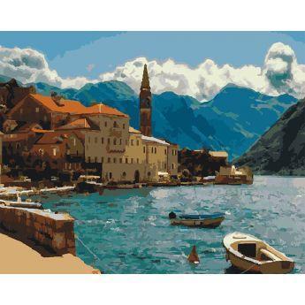 Фото Картины на холсте по номерам, Картины  в пакете (без коробки) 50х40см; 40х40см; 40х30см, Пейзаж, морской пейзаж. KHO 2229
