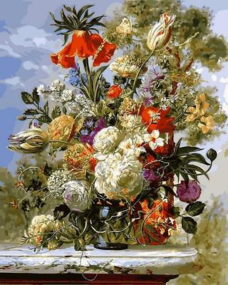 Фото Картины на холсте по номерам, Букеты, Цветы, Натюрморты VP 1044