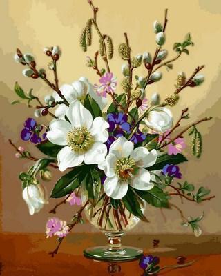 Фото Картины на холсте по номерам, Букеты, Цветы, Натюрморты VP 1059
