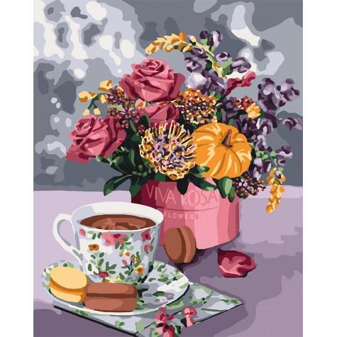 Фото Картины на холсте по номерам, Букеты, Цветы, Натюрморты KH 3068 Аромат любви Картина по номерам на холсте 40х50см
