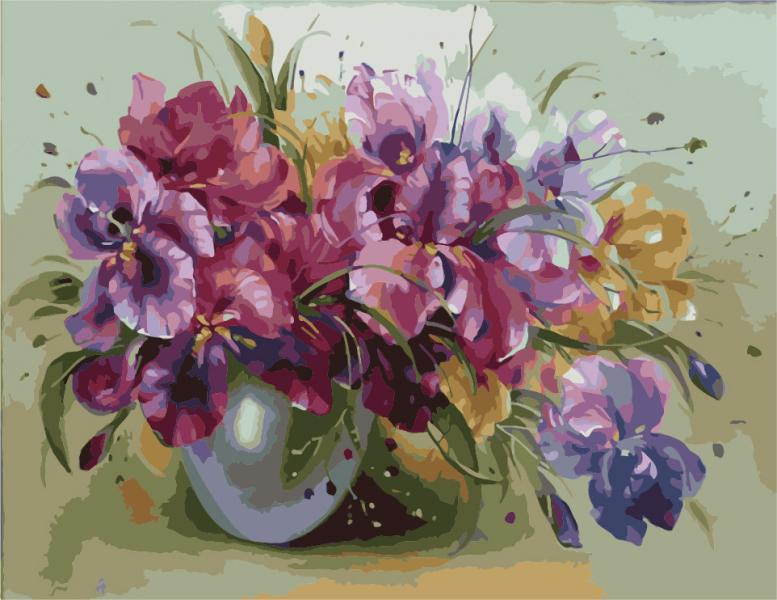Фото Картины на холсте по номерам, Букеты, Цветы, Натюрморты KH 1118