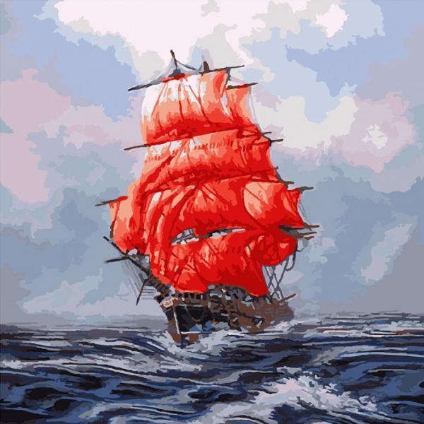 Фото Картины на холсте по номерам, Морской пейзаж KH 2709