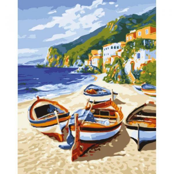 Фото Картины на холсте по номерам, Морской пейзаж KH 2721