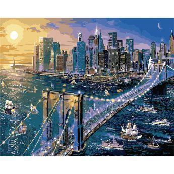 Фото Картины на холсте по номерам, Городской пейзаж KH 2170