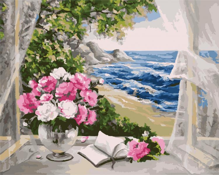 Фото Картины на холсте по номерам, Картины  в пакете (без коробки) 50х40см; 40х40см; 40х30см, Пейзаж, морской пейзаж. KH 2072