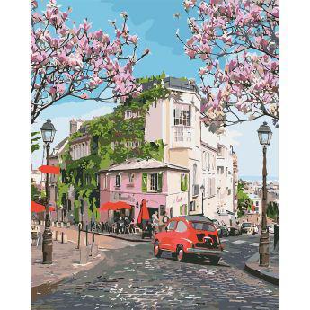 Фото Картины на холсте по номерам, Городской пейзаж KH 3500