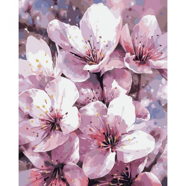 Фото Картины на холсте по номерам, Букеты, Цветы, Натюрморты KH 2946 Чарующая весна Картина по номерам на холсте 40х50см