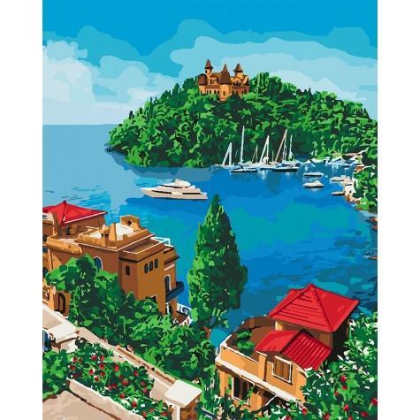 Фото Картины на холсте по номерам, Морской пейзаж KH 2276 Остров надежды Картина по номерам на холсте 40х50см