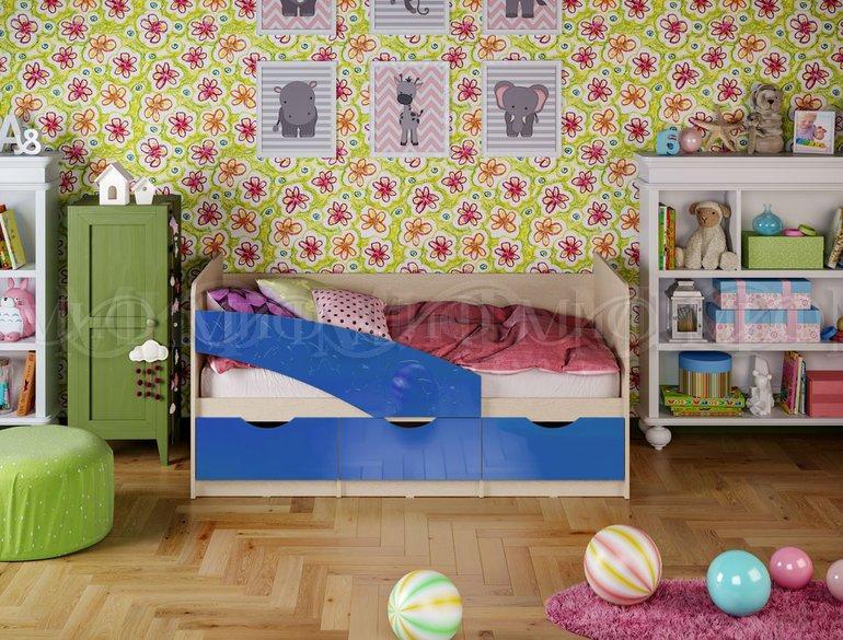 Фото Детская мебель Детские кровати Бабочки металлик 1,8м (Миф)