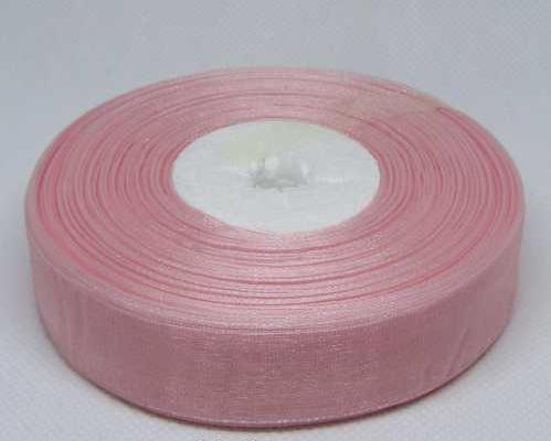 Фото Ленты, Лента органза однотонная Лента  Органза  2,5 см . Пепельно - розового цвета .